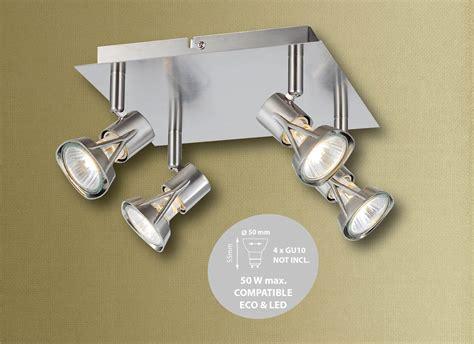 4 spotlight ceiling light 1 2 3 4 way spotlight bar die cast l cap ceiling light