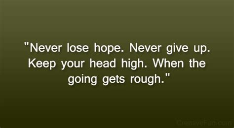 Keep Your Head Up Stay Strong Quotes