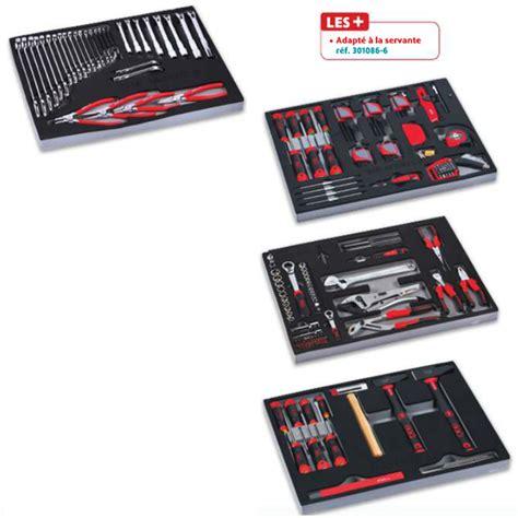composition 200 outils en module mousse pour servante 6 tiroirs servi 640m sam cpp 200m