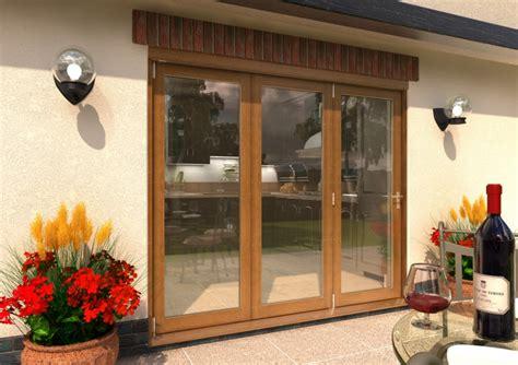 mm ft  door supreme solid oak bifolding patio