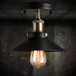 Ceiling Mount Light Vintage Chandelier Edison Lamp