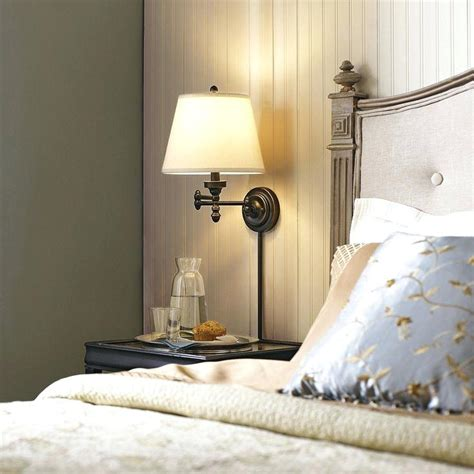 Bedroom  Marvelous Reading Wall Sconce Over Bed Wall