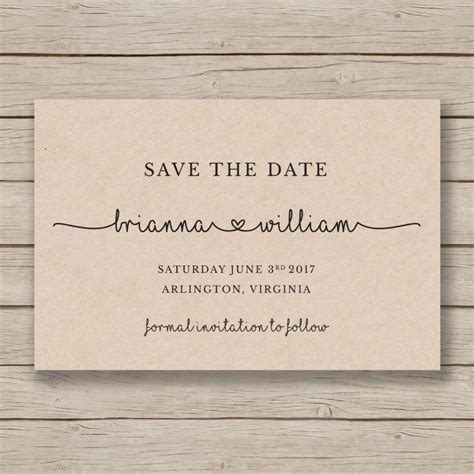 save  date printable template editable    word