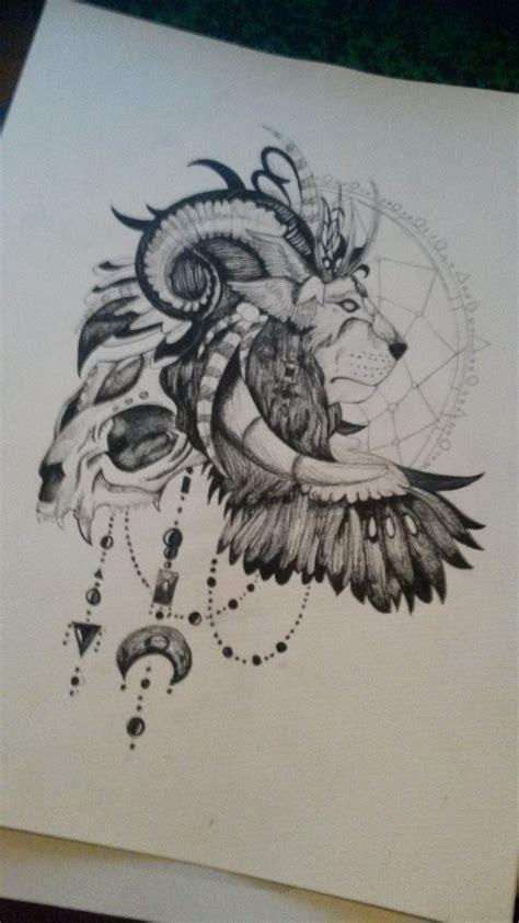 tete de mort lion  catch dream dessin de senshi