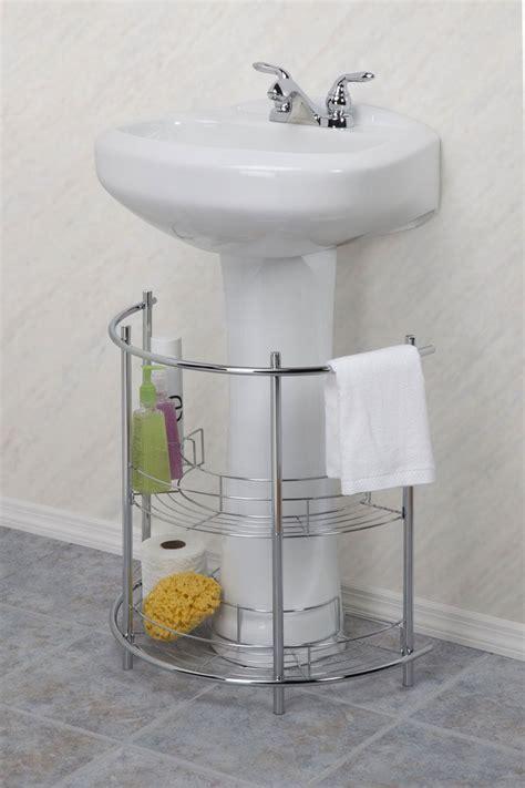 essential home  sink pedestal chrome finish