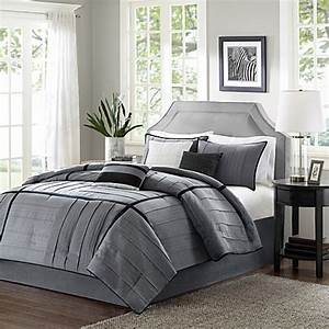 Buy madison park bridgeport collection 7 piece california for Bed bath and beyond california king bedspreads