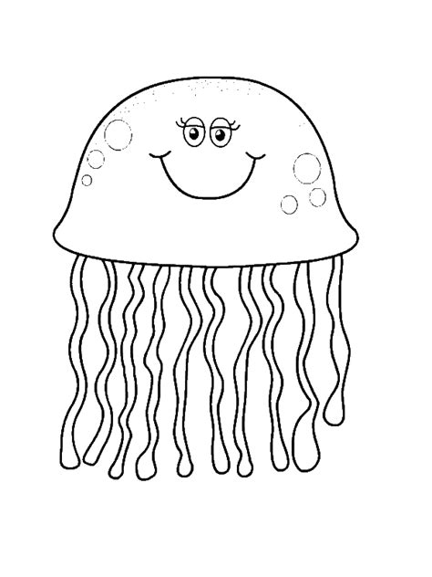 pretty eyes jellyfish coloring page  print