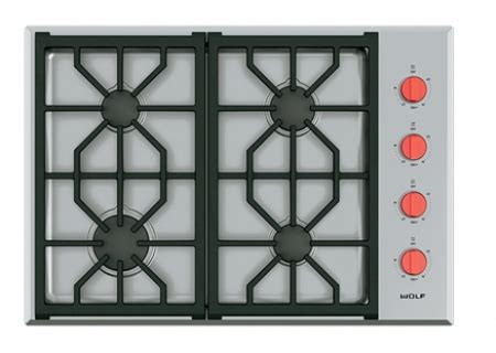 "Wolf 30"" Stainless Professional Gas Cooktop CG304PS"