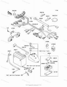 Kawasaki Motorcycle 2002 Oem Parts Diagram For Chassis