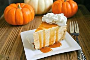 frozen pumpkin pie cheesecake and food