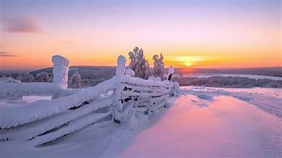 Snow Winter Sunset Desktop Wallpapers Backgrounds Mobile