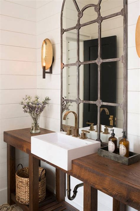 Reclaimed Wood Washstand Eclectic Bathroom 25 Best Ideas About Wooden Bathroom On Design