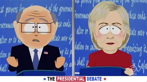 south park mocks hillary   debate