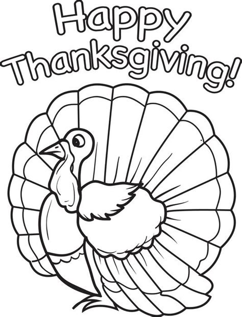 free turkey coloring pages for preschoolers happy thanksgiving coloring pages for 689