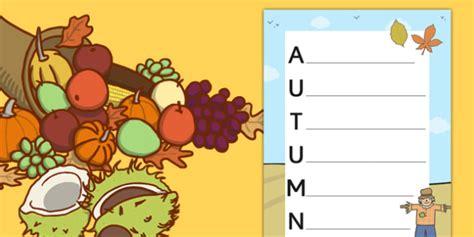 Autumn Acrostic Poem Template