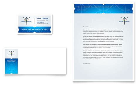reflexology massage business card letterhead template