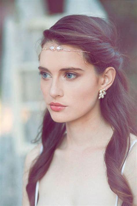 boho forehead bands beautiful halo crowns bridal style