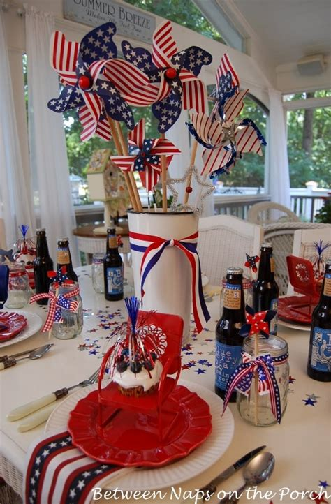 4th of july table centerpieces make an easy centerpiece or table decoration the 4th of july