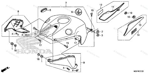 honda motorcycle 2013 oem parts diagram for top shelter partzilla