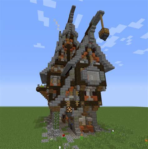 fantasy steampunk mansion  blueprints  minecraft houses castles towers   grabcraft