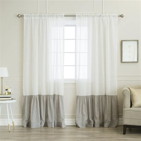 home fashion    white linen  rod pocket