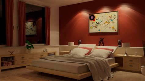 Bedroom Accent Wall Color Ideas by 15 Invigorating Red Bedroom Designs Home Design Lover