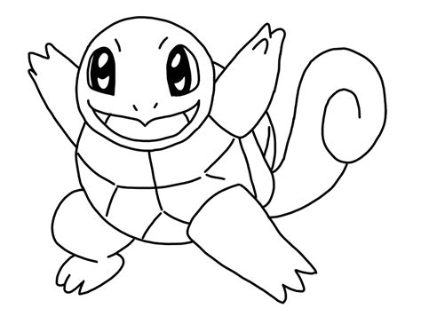 Squirtle Lineart By Windblownrebel On Deviantart