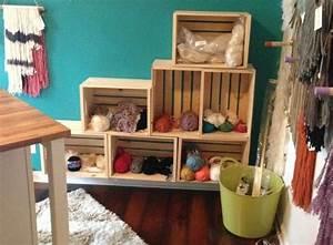 diy recycler une caisse en bois deco en 40 idees With deco cuisine pour meuble bibliothèque