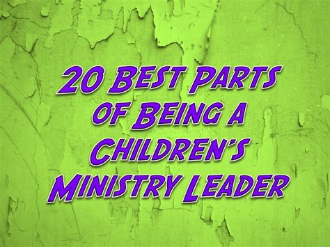 parts    childrens ministry leader