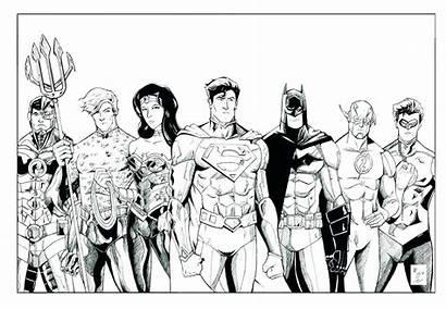 Justice Coloring League Pages Friends Super Printable