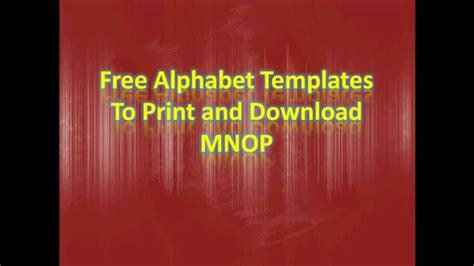 Illuminated Alphabet Templates by Alphabet Templates To Print And Mnop