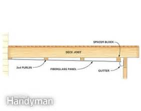 Corrugated Steel Floor Decking by Under Deck Roof The Family Handyman