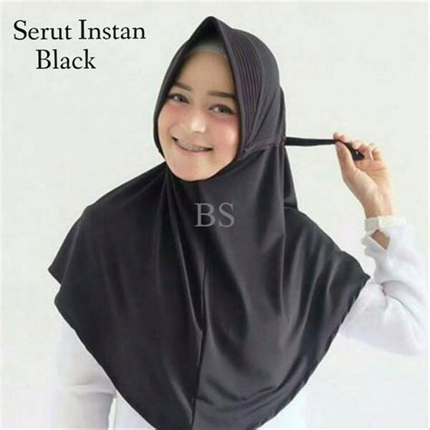jual hijab jilbab instan serut polos daily instant  lapak elise collections lusianas