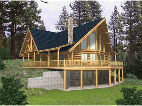 blackhawk ridge log home plan   house plans