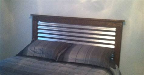corrugated metal  wood headboard  boys bus room ideas pinterest corrugated metal