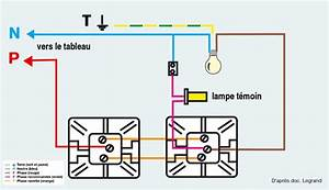 Branchement Interrupteur Temoin Lumineux Legrand : installation d 39 un va et vient avec voyant t moin ~ Dailycaller-alerts.com Idées de Décoration