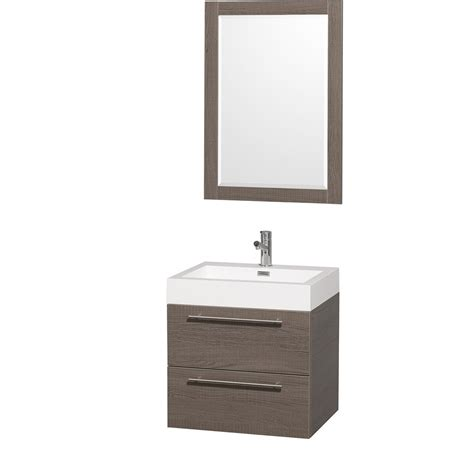 Mounted Vanity by Amare 24 Quot Wall Mounted Bathroom Vanity Set With Integrated