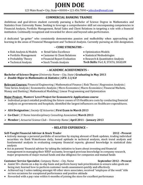 corporate banking resume template 10 best images about best banking resume templates