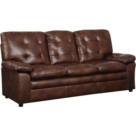 buchannan faux leather sofa buchannan faux leather sofa walmart com
