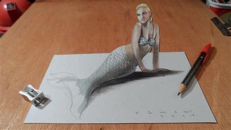artist creates  drawings inspired  anamorphic art