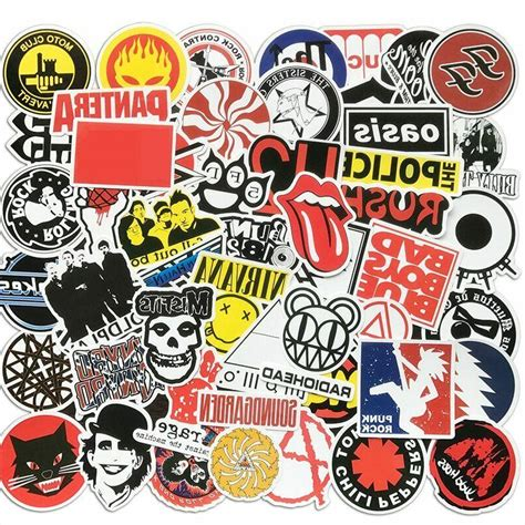 50 rock band stickers bomb pack lot