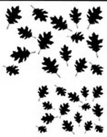 Oak Leaf Camo Stencil