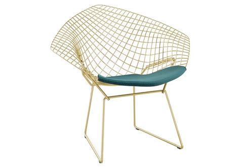 bertoia knoll chair in gold milia shop