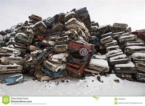 Car Dump Yard by Dump Cars In Russia In The Winter Stock Image Image