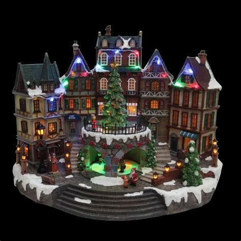 animatronic christmas decorations 12 5 in animated downtown house musical