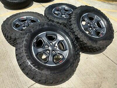 jeep gladiator  rubicon oem wheels rims tires wrangler    ebay