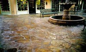 Acid Washed Stained Concrete Patio