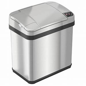 Itouchless, Multifunction, Sensor, Trash, Can, Stainless, Steel, Silver, 2, 5, Gallon, 8, 25