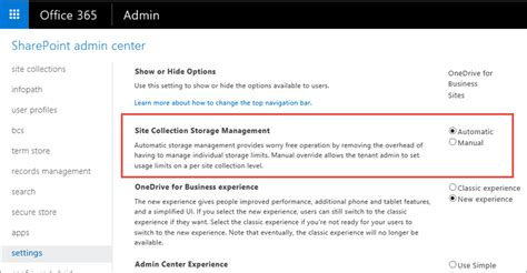 Edit User Template Office 365 by Manage Site Collection Storage Limits Sharepoint