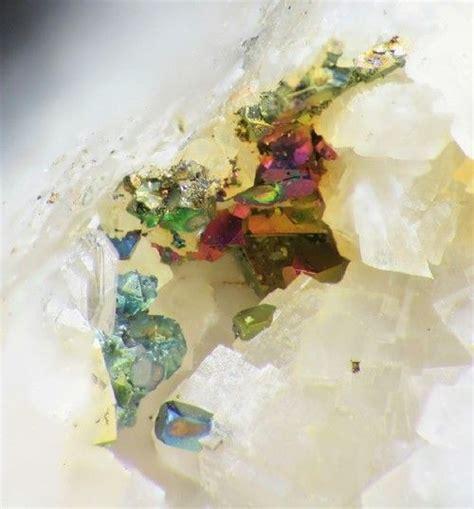 Iridescent Chalcopyrite On Dolomite